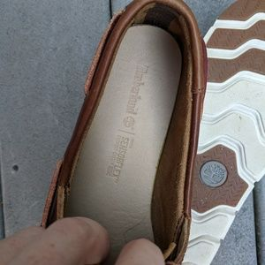 Timberland Camden Falls Brown Leather Boat Shoes